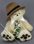 Dollhouse Scale Model Bear in Hat and Tie