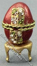 Dollhouse Miniature Ladies Necklace in Decorated Egg