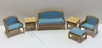 Quarter Scale 6pc Traditional Living Room Kit