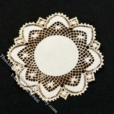 Miniature Laser Cut Doily for Dollhouses