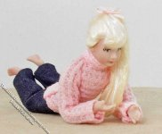 Blond Haired Teen Girl Lying on Tummy by Patsy Thomas