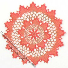 Miniature Red Christmas Star Laser Cut Doily for Dollhouses