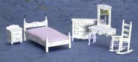 Dollhouse Miniature Violet Bedroom Set