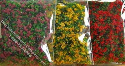 Dollhouse Miniature Outdoor Medium Green Ditch Weed Landscaping Bushes CA0222