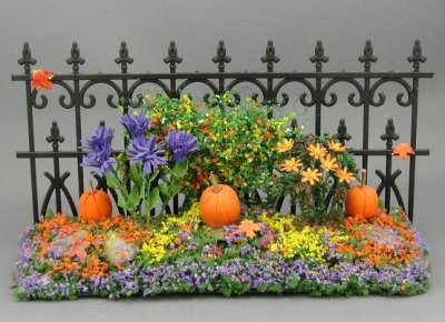 Autumn Garden Fence - Mini Creations by Judy