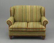 Dollhouse Miniature Two Seater Sofa by Judith Blondell