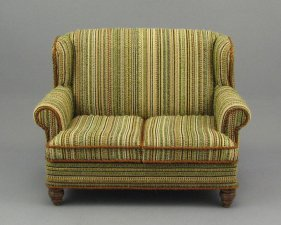 Miniature Love Seat Sofa by Judith Blondell