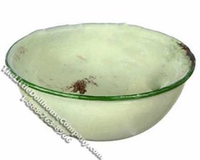 Miniature Distressed Green Large Bowl for Dollhouses