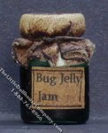 Dollhouse Scale Model Homemade Bug Jelly Jam in Wax Sealed Jar
