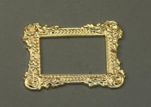 Miniature Gold Picture Frame for Doll Houses