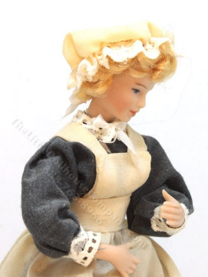 Porcelain Victorian Maid Doll by Joy Parker - Click Image to Close