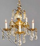 Dollhouse Scale Model Jacqueline Chandelier