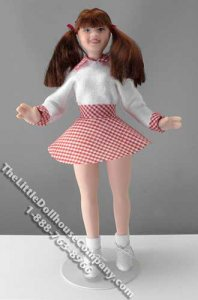 Girl in Cheerleader Outfit by Cindy's Dolls