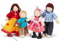 Wood and Rope Child Safe Dolls