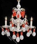 Dollhouse Scale Model Pearl Finish Jacqueline Chandelier