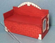 Miniature Fire House Toy Box Kit for Dollhouses