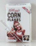 Dollhouse 1/2 Scale Model Replica Box of Corn Flakes