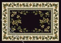 "Dollhouse Scale Model Medium Sized ""Country Ivy"" Rug"