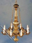 Dollhouse Scale Model Gold Finish Metropolitan Chandelier