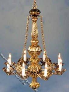 Miniature Gold Metropolitan Chandelier