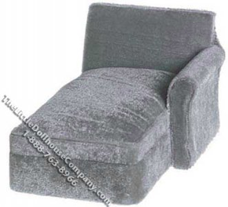 Miniature Left Arm Sectional Sofa Chaise for Dollhouses