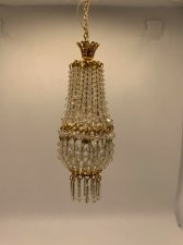 Dollhouse Scale Small Daphne Chandelier with Tassels