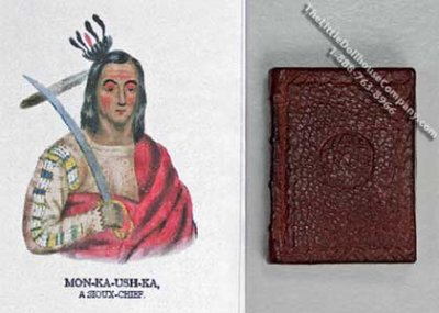 Miniature Book: 'History of the Indian Tribes of North America'