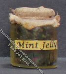 Dollhouse Scale Model Homemade Mint Jelly in Wax Sealed Jar