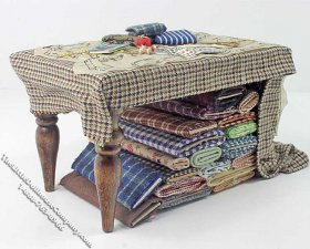 Miniature Sewing Work Table by Bette Jo Chudy for Dollhouses