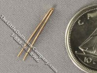 Miniature Straight Tweezers for Dollhouses