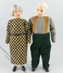 Herta & Paul Flexible Grandparent Dolls by Erna Meyer