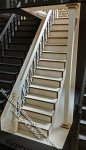Miniature Cyprus Straight Staircase w/Landing Kit for Dollhouses