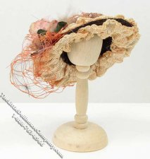 Miniature Ladies Hat for Dollhouses