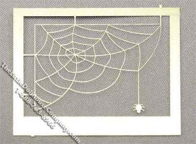 Miniature Spider Web Window Decoration for Dollhouses