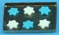 Miniature Hanukkah Cookies On Baking Sheet for Dollhouses