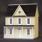 "1/2"" Scale Assembled Vermont Farmhouse - Yellow"