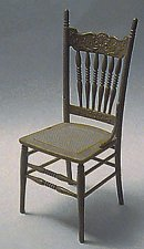 Dollhouse Miniature Victorian Cane Seat Chair Kit