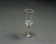 Dollhouse Scale Model White Wine Glass
