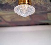 Dollhouse Scale Model Battery Operated Ceiling Light