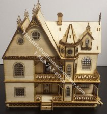 Quarter Scale Jasmine Gothic Victorian Dollhouse Kit