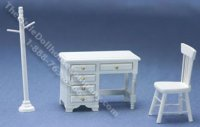 Miniature White Three Piece Youth Desk Set