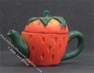 Dollhouse Scale Model Strawberry Teapot