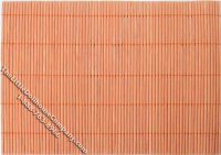 Dollhouse Scale Model Orange Bamboo Floormat
