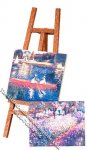 Miniature Easel with two Paintings for Dollhouses