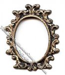 Miniature Oval Picture Frame for Dollhouses
