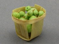 Dollhouse Scale Model Basket with Grapes