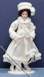 Miniature Nina Doll in Winter Outfit by Danielle Design