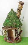 Miniature Round Rustic Pixie Hut for Dollhouses