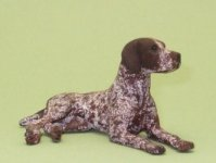 Dollhouse Scale German Short-Haired Pointer by Karl Blindheim