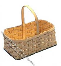 Miniature Rectangular Basket Kit for Dollhouses
